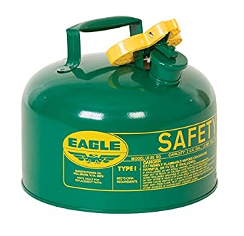 Eagle UI-25-SG Green Metal Safety Gas Can, 2.5 gal Capacity