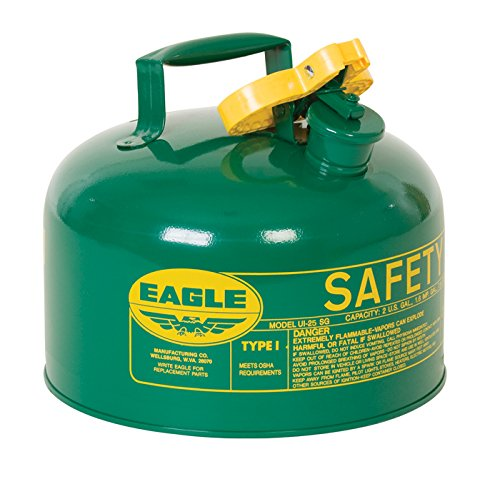 Eagle UI-25-SG Green Metal Safety Gas Can, 2.5 gal Capacity by Eagle