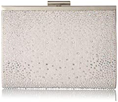Jessica McClintock offers premier evening bags and clutches for women. This Evening Bag offers a dual purpose - it operates as a women's crossbody bag when worn with the strap, as well as a modern and unique evening clutch. Use the strap for ...