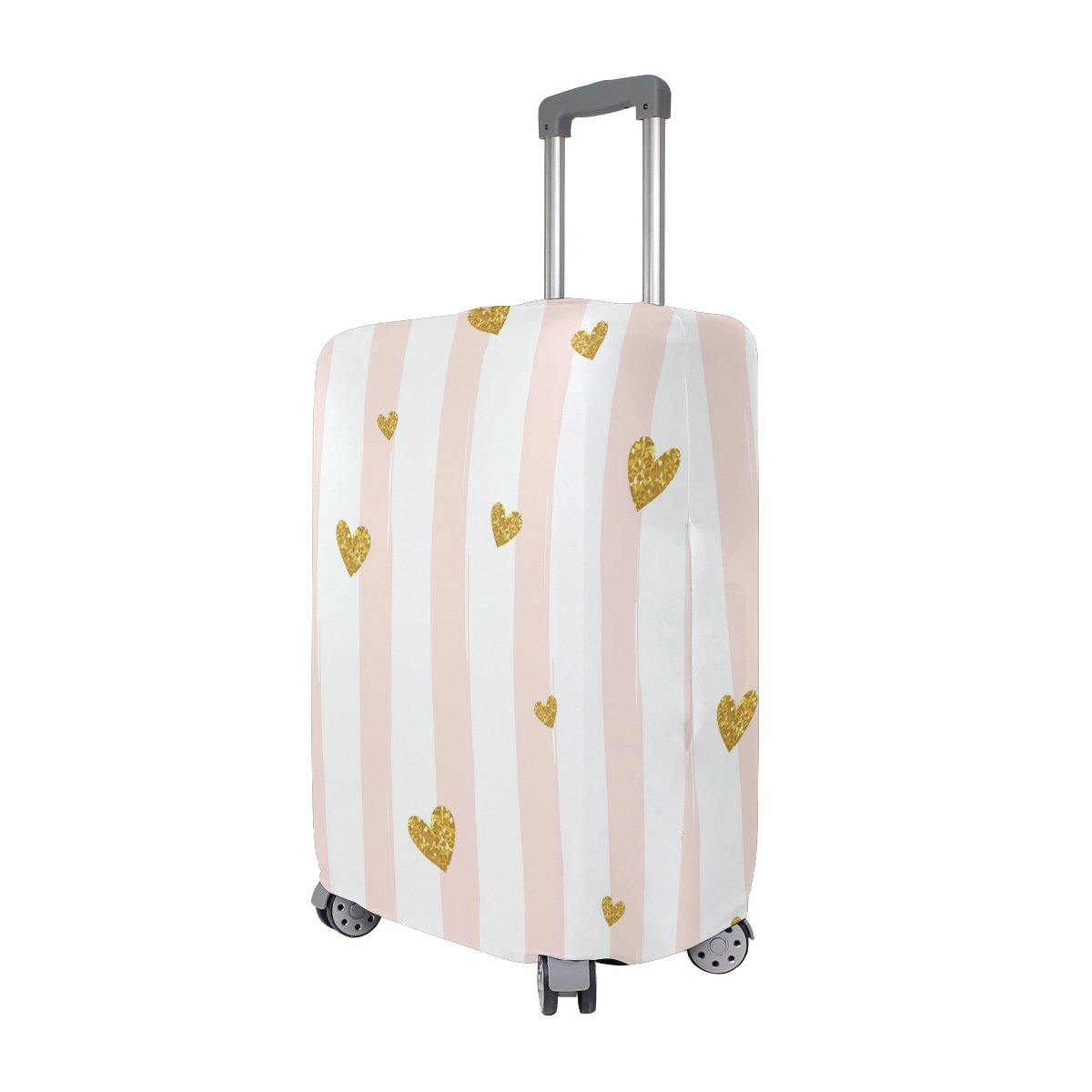 Stripe Love Luggage Cover Suitcase Protector Washable Spandex Baggage Cover with Zipper for Travel, Business and Outdoor by Yomole (Image #2)