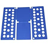 Quick Adult Kids Clothes T Shirt Dress Fast Folding Folder Board Flip Organizer (Blue)