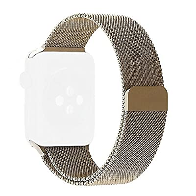 Apple Watch Band, Aokay Magnetic Clasp Milanese Loop Stainless Steel Replacement Bracelet Strap WristBand for Apple Watch Series 2 Series 1