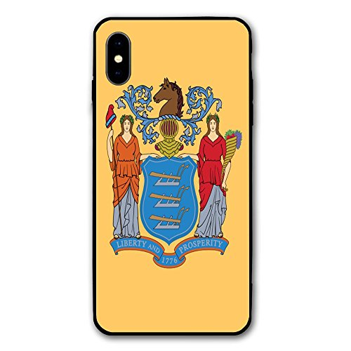 Missouri Jersey Material - iPhone X Case Flag of New Jersey Anti-Scratch Shockproof PC Material Protective Cover Case for Phone