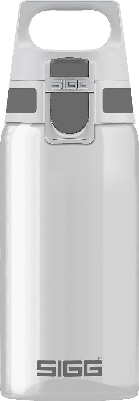 Sigg Total Clear One Anthracite Botella cantimplora (0.5 L), Botella hermética sin sustancias nocivas, Botella Transparente y Ligera de plástico tritán