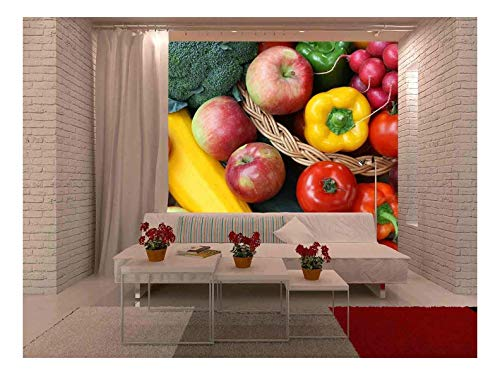 (wall26 - Closeup of Fruits - Removable Wall Mural | Self-Adhesive Large Wallpaper - 100x144 inches)