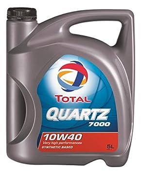 Total Quartz 7000 10 W/40 Semi Aceite sintético de motor. 5 Litros: Amazon.es: Coche y moto