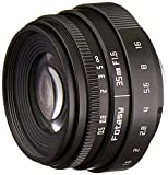 Fotasy TL3516 35MM F1.6 APS-C Multi-Coated Lens & C-M43 Adapter MFT Mount Mirrorless Cameras