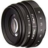 Fotasy TL3516 35MM F1.6 APS-C Multi-Coated Lens & C-M43 Adapter for MFT Mount Mirrorless Cameras