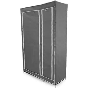 VonHaus - Armario de Tela Banco Para Colgar Ropa en Riel Almacenamiento – 6 Estantes – Negro - 100 x 175 x 45cm: Amazon.es: Hogar