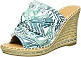 Cheap Sugar Women's Honora Slip-on Open Back Espadrille Wedge Sandal, Tropical Floral, 9 M US