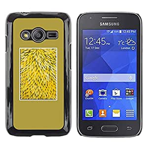 iKiki Tech / Estuche rígido - Yellow Nature Floral Pattern Flowers - Samsung Galaxy Ace 4 G313 SM-G313F