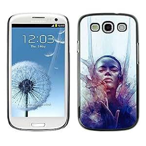 PC/Aluminum Funda Carcasa protectora para Samsung Galaxy S3 I9300 Woman Deep Fashion Watercolor / JUSTGO PHONE PROTECTOR