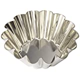 Matfer Bourgeat 14-Fluted Tin Brioche Mold, 4-3/4-By-1-3/4-Inch