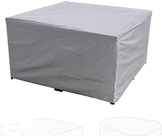 LDIW Fundas Muebles Jardín, Cubierta Impermeable Protectora para Oxford Muebles de Exterior para Mesa de Comedor -Plata,315 * 160 * 74cm: Amazon.es: Hogar