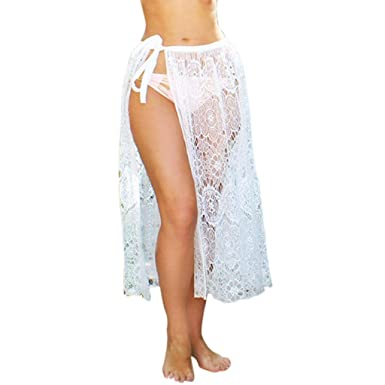 2d77469a4e CANDLLY Faldas de Fiesta Mujeres Elegante Playa Transparente Faldas Lisas  Faldas Cortas Faldas Modernas Vestido Guapo