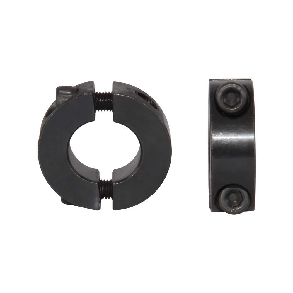 4 PCS AZSSMUK 1 Bore Double Split Shaft Collar Black Oxide Set Screw Style