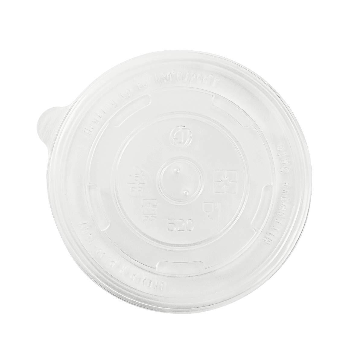 Karat C-KDL112-PP PP Flat Lid for 16 oz Paper Food Container (Case of 1000)