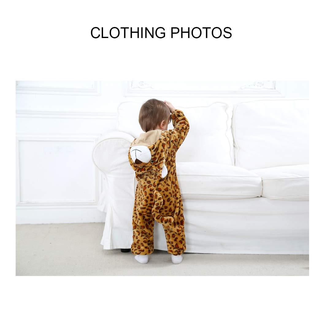 Ensemble de Pyjama Grenouill/ères Combinaison B/éb/é Unisexe Barboteuse Capuche Flanelle Forme Animal D/éguisement Manteau Enfants Gar/çon Fille Mignon Chaud Automne Hiver Printemps 0-24 Mois