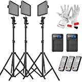 Emgreat® Aputure HR672KIT (HR672S + HR672W*2)672 Led Video Light Panel Studio Lighting Kit with 2.4G FSK Wireless Remote Control and Pergear Clean Kit