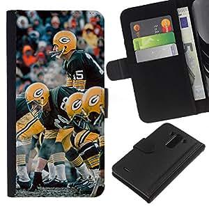 G Fútbol - la tarjeta de Crédito Slots PU Funda de cuero Monedero caso cubierta de piel Para LG G3