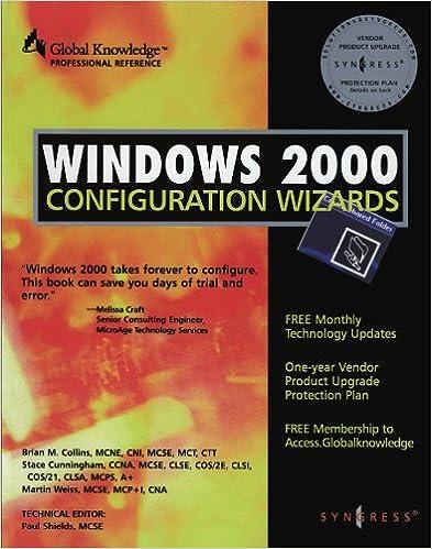 Book Windows 2000 Configuration Wizards