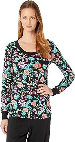 (Vera Bradley Women's Henley Pajama Top Vines Floral Medium)