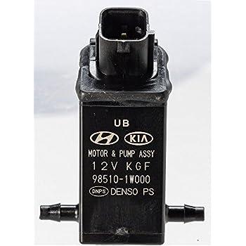 Amazon.com: Genuine Hyundai 98510-1C100 Windshield Washer Motor and ...