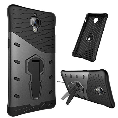 XYX Phone Case for OnePlus 3,OnePlus 3T,[360 Degree Rotating Series][Black][Hybrid Armor] Heavy Duty Protection Shock Absorbing Case for OnePlus 3 / OnePlus 3T (2016)