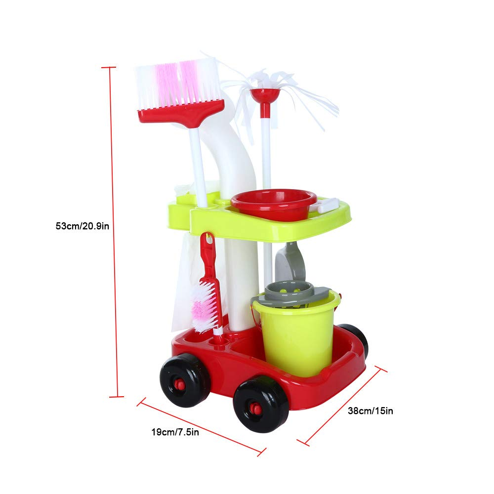 ASfairy Childrens Cleaning Set- Broom, Mini Sweeper, Toy Cleaning Supplies That Work! by ASfairy-Toy (Image #5)