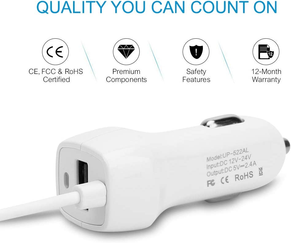 Galaxy S10 USB Type C Car Charger Adapter Kit Me Out World 3.4 Amp Fast Charging for Galaxy S10e S9 S8 Note 10 9 A20 A30 A40 A50 Pixel 4 Power Cable Line 3ft//1M White Pixel 3A//3A XL Pixel 4 XL