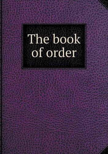 The book of order pdf
