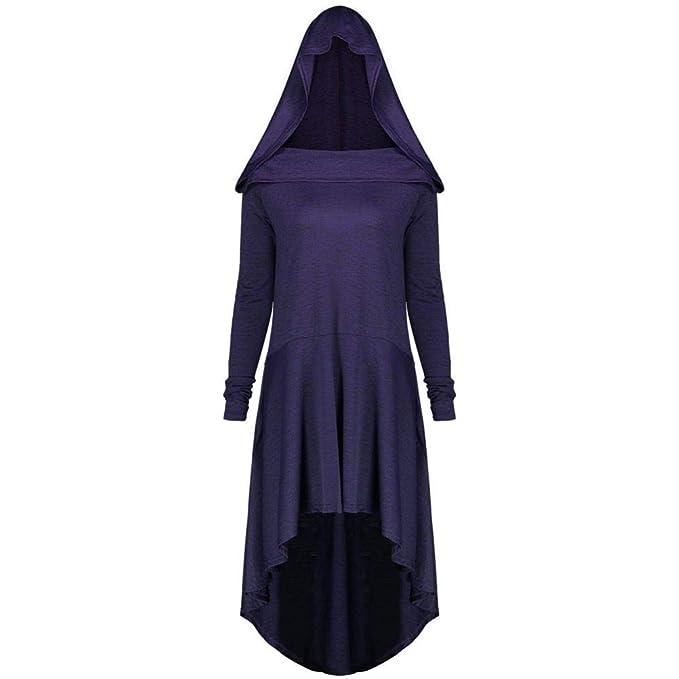DEELIN Vestido De Bruja con Capucha De Color SóLido Informal De Gran TamañO De Las Mujeres(XL-5XL): Amazon.es: Ropa y accesorios