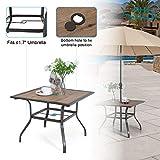 "PHI VILLA Patio Dinning Table 37"" x 37"" Outdoor"