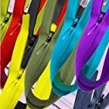 "YKK Conceal ~ Invisible Assortment of Colors 18"" (25 Zippers/pack)"
