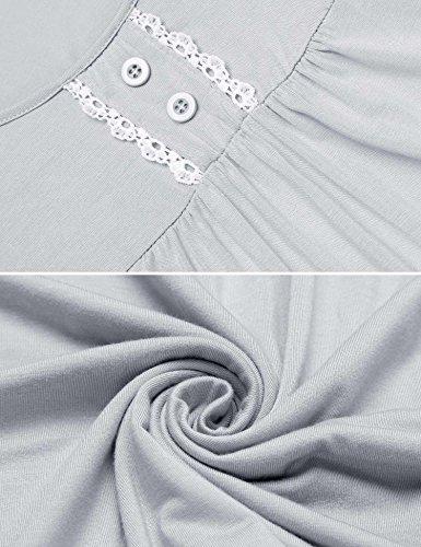 Pigiama Donna corte S XL Maniche Chiaro Unibelle a Grigio Pigiami Pantaloni Vestaglia U due con Estivi Scollo pezzi 1gnC5qw