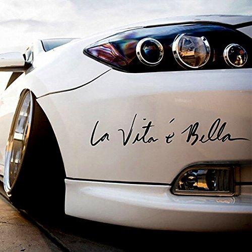 negro ZERTRAN Coche Estilo Pegatina Decoraci/ón del coche Etiqueta engomada del coche DIY para La vida es bella