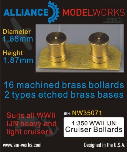 Alliance Model Works 1:350 WWII IJN Cruiser Bollards (D:1.68mm,H:1.87m) #NW35071