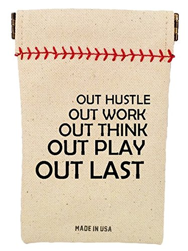 Baseball's Original Seed Sack Wheelhouse Collection Includes 6 Ounces of Seeds - Take Your Sunflower Seeds on to The Field (Out Hustle, Out - Seed Pouch