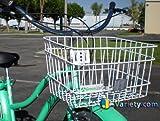 J Bikes Square Steel Wire Beach Cruiser Bike Basket White