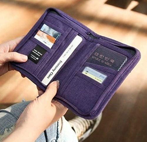 sea-junop Women Passport Ticket Holder With Full Closure Zip Travel Wallet
