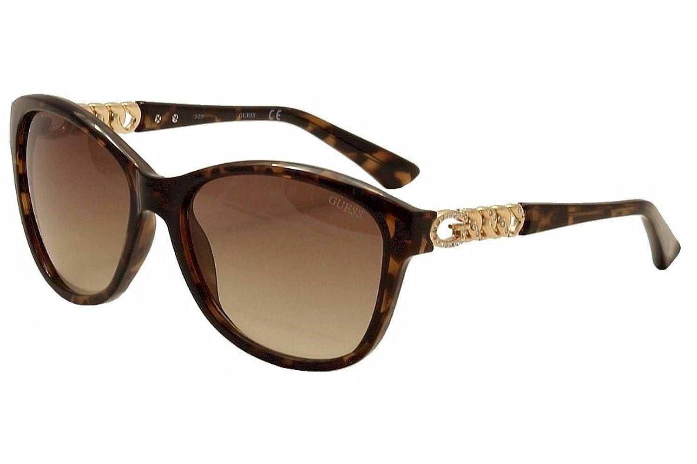 Guess Women's GU7451 GU/7451 52F Havana/Gold Cat Eye Sunglasses 58mm