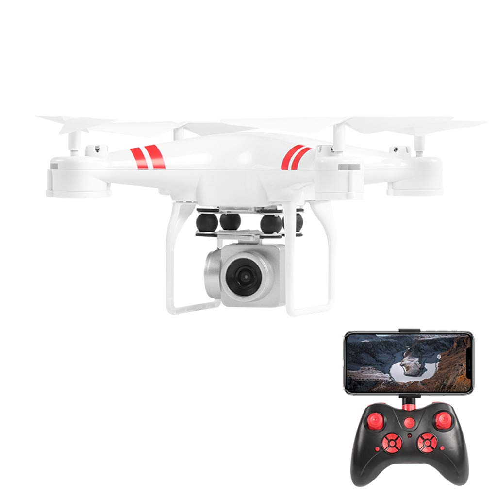 Elaco Wide Angle Lens 4K HD Camera Fixed Height Quadcopter RC Drone WiFi FPV with 2 Battery Mobile Phone Holder and Screwdriver by Elaco1