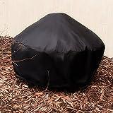 Sunnydaze Durable Black Round Fire Pit Cover, 30 Inch Diameter