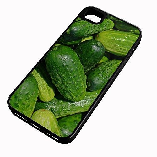 iPhone Case Fits iPhone 8 Hybrid Tough Case Cucumber Gourd Vine Burpless Pickle Slicing Black Plastic Black Rubber