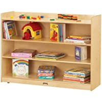 Jonti-Craft 0782TK Adjustable Mobile Bookcase with Lip
