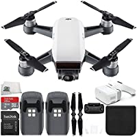 DJI Spark Portable Mini Drone Quadcopter + DJI Goggles Virtual Reality VR FPV POV Experience Essential Bundle (Alpine White)