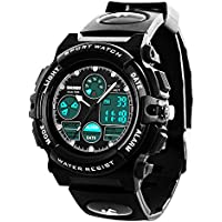 Boys Digital Watch - Kids Waterproof Sports Watch with Alarm, Outdoor Analog Wrist Watches for Childrens