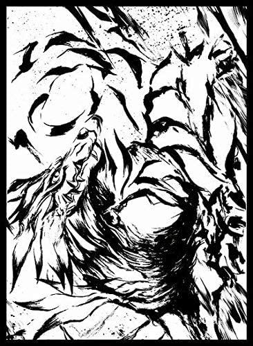 サンパン カードスリーブ ☆『デジモン 墨絵ガルル/illust:カワバタヨシヒロ』★ 【コミックマーケット96/C96】