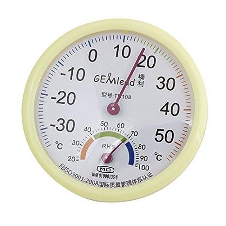 Humedad de la temperatura de prueba Medidor de humedad termómetro higrómetro Beige: Amazon.com: Industrial & Scientific