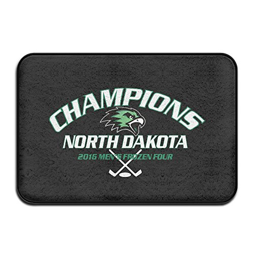 Buffalo Jr Hockey Sabres - JFD 2016 Fronzen Four Hockey Champions North Dakota Fighting Hawks Non-Skid Home Mat 60x40cm